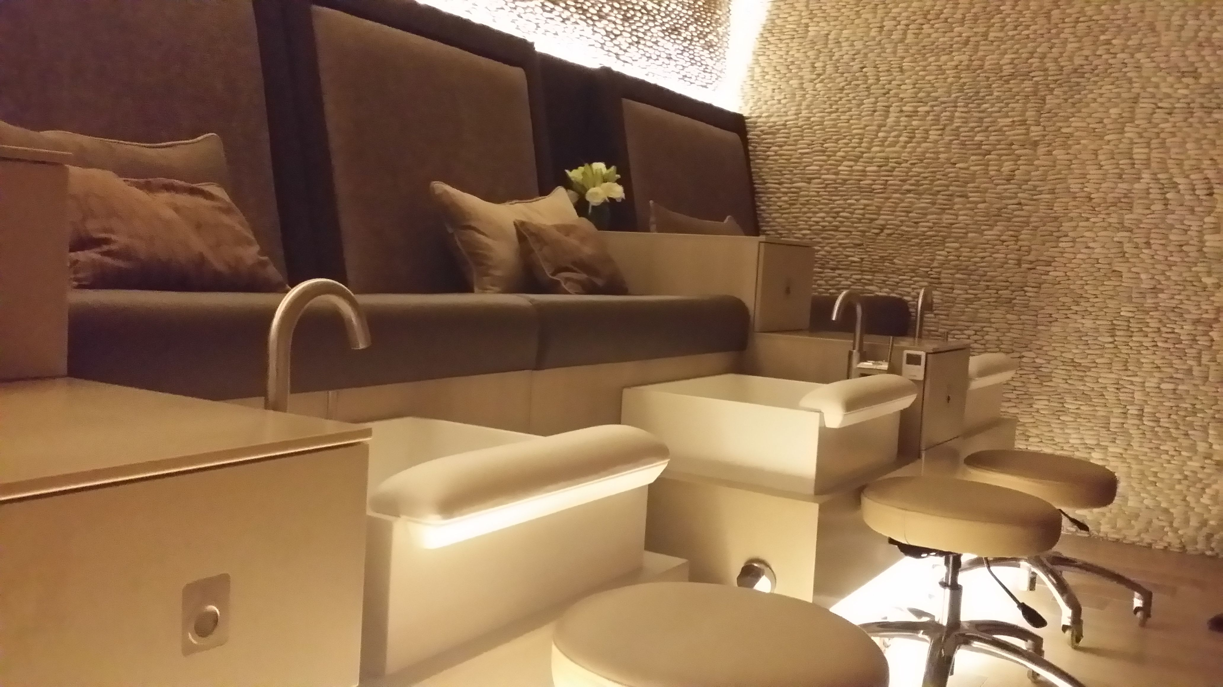 Beautiful custom pedicure units recently installed at Escape Nail ...