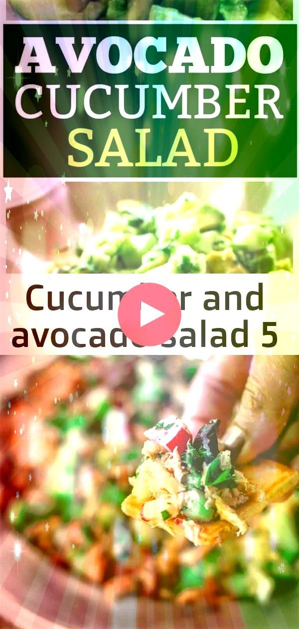and avocado salad 5 This Avocado Cucumber salad has a citrus dressing with cilantro and garlic A great side dish to any meal thegirlwhoate Hands down the BEST Healthy tun...