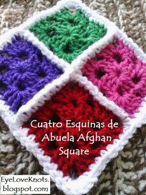 Cuatro Esquinas de Abuela Afghan Square - Free Crochet Pattern ...