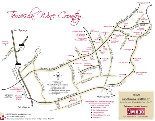 Temecula wineries map Temecula Pinterest Temecula wineries