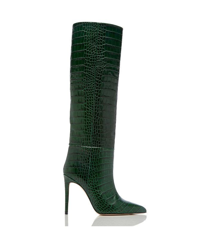 9b58a202d Paris Texas Croc-Embossed Leather Knee Boots