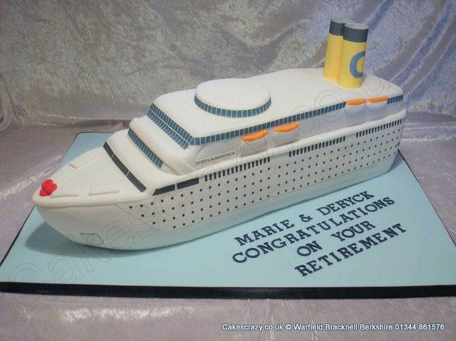 Three Dimensional Cruise Liner Cake Great For Retirements - Cruise ship cake