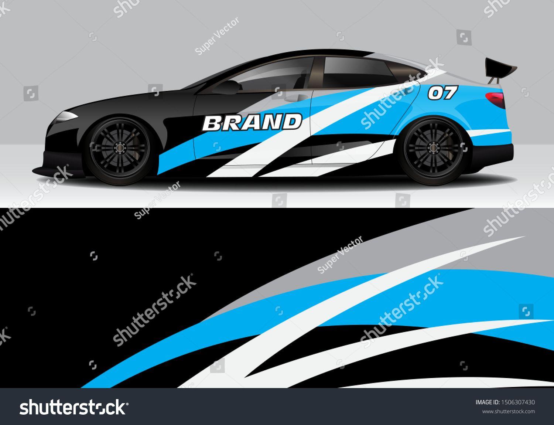 Car Wrap With Modern Abstract Line Vector Design Template Eps10 Car Wrap Racing Car Design Car [ 1150 x 1500 Pixel ]
