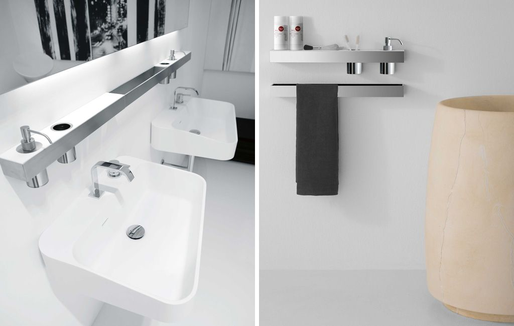 collezione di accessori per il bagno in acciaio inox satinato ... - Accessori Per Bagni Moderni