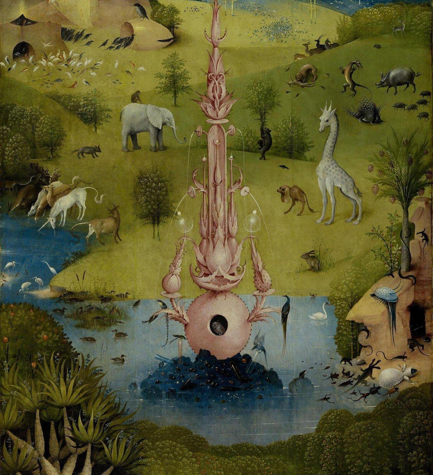 Detalle El Jardín De Las Delicias Hieronymus Bosch Garden Of Earthly Delights Painting