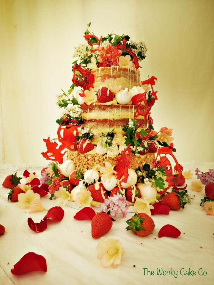 Strawberries and cream and meringue for this wacky Wonky wedding ...