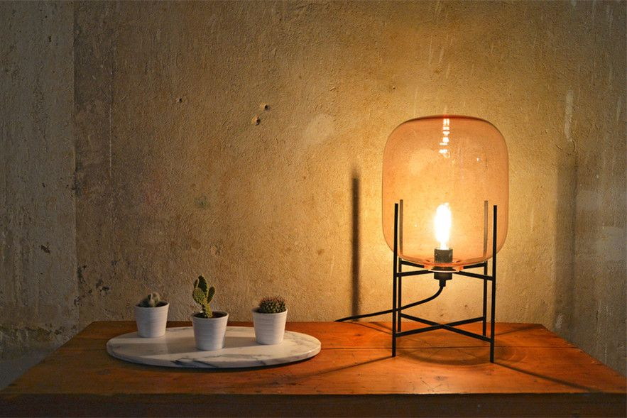Gestalten The Light For A New Dawn Smoked Glass Lamp Light