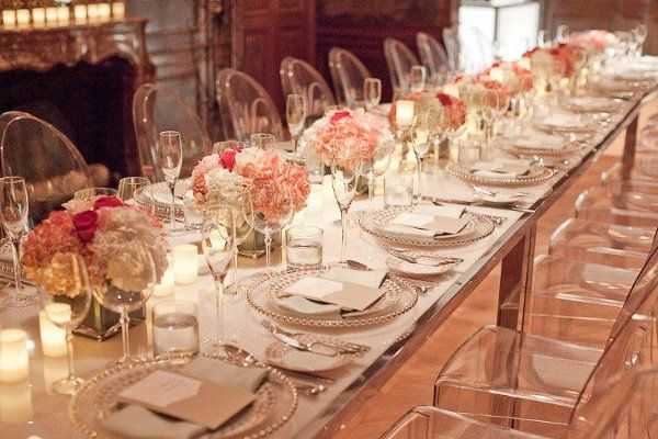 Modern Style Look with Ghost Chairs I Unity Weddings I #modernwedding #decor #tablescape
