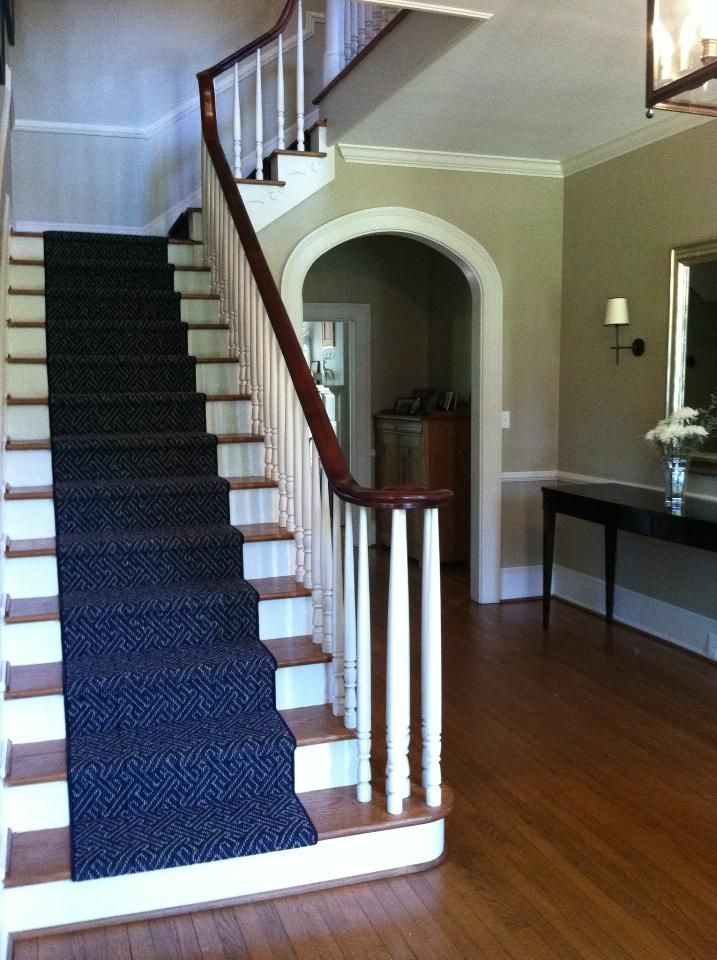 Karastan Leighland Stair Runner. The Color Shown In Regatta. Woven Back And  Made Of