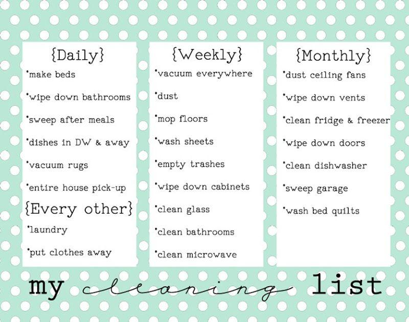 New Pretty Chore List  Chore List Free Printable And Free