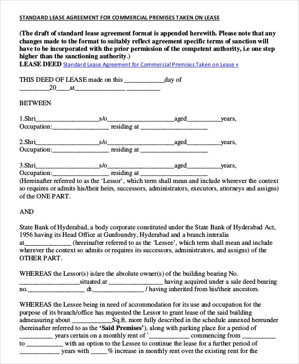 Free Commercial Lease Agreement Template Download The Agreement Will Supply The Rul Rental Agreement Templates Lease Agreement Free Printable Lease Agreement