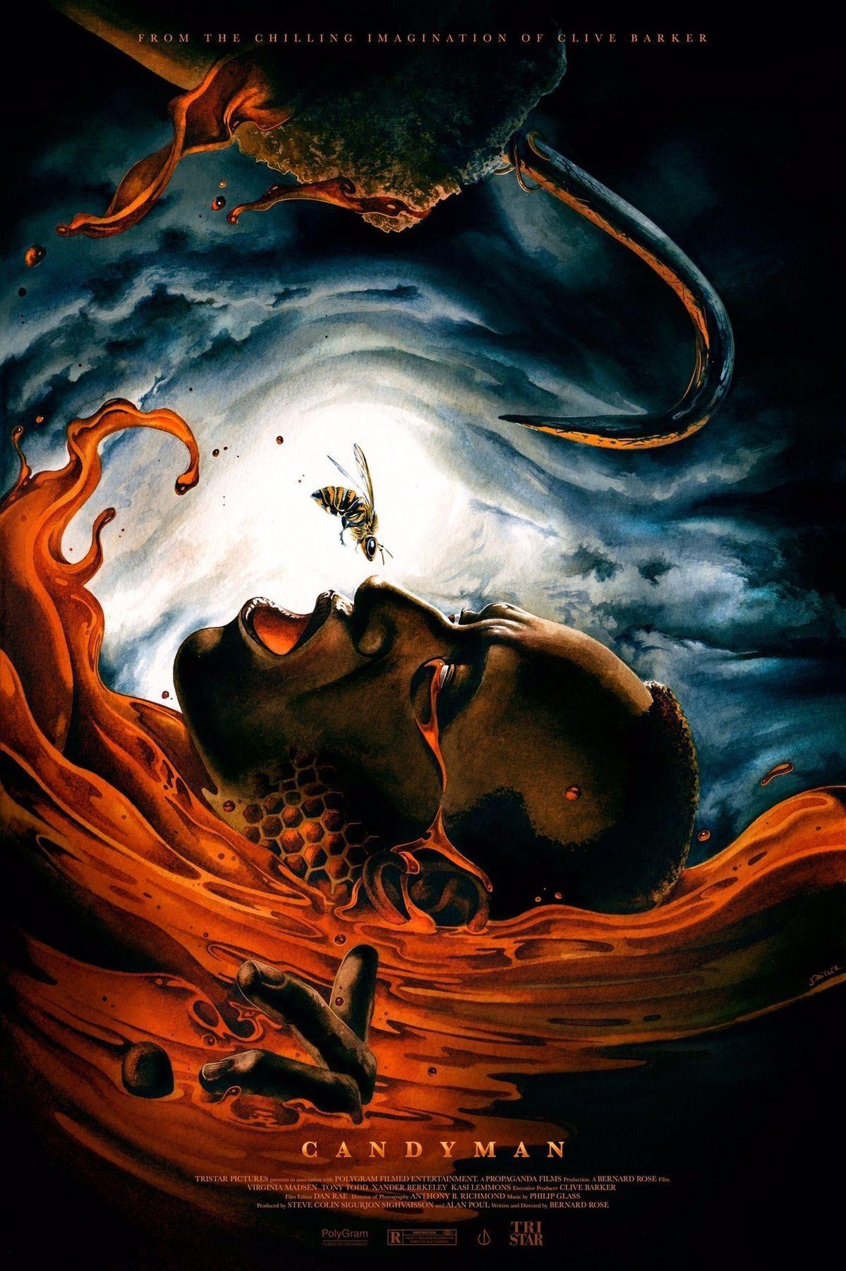 Horror movie poster art candyman 1992 by jeremy