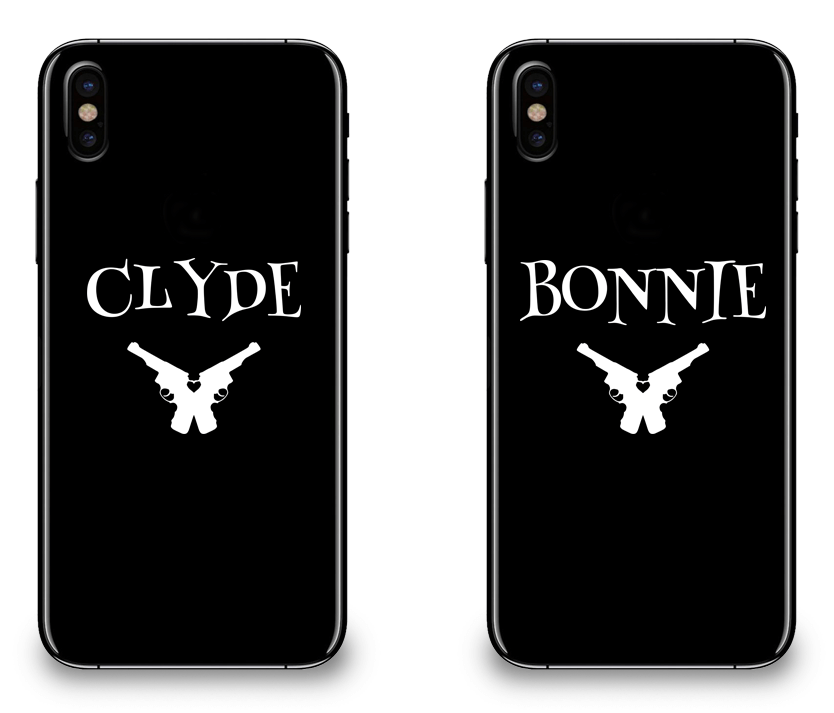 CLYDE AND BONNIE iphone case