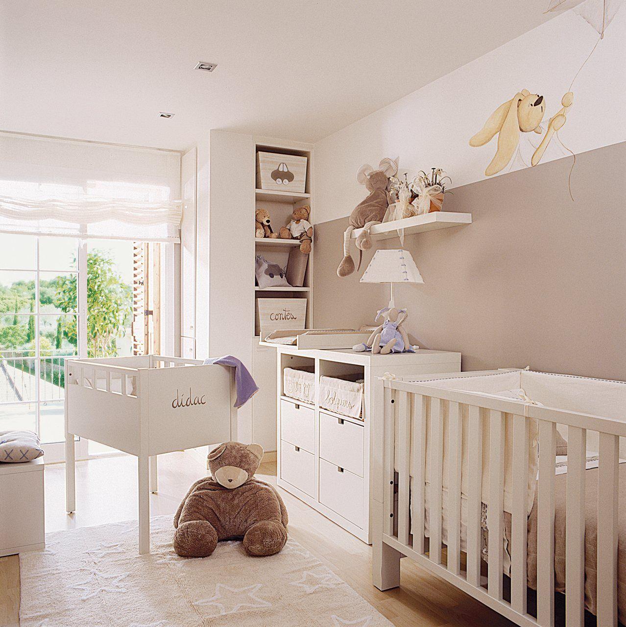 Habitacion bebe beige buscar con google bebes - Ideas habitaciones bebe ...