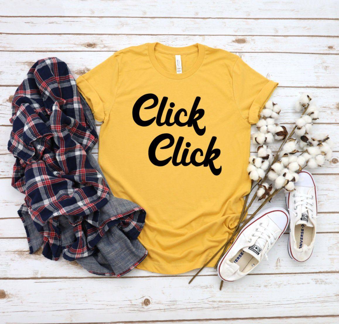Click coffee shirt vintage retro shirt in 2020 retro