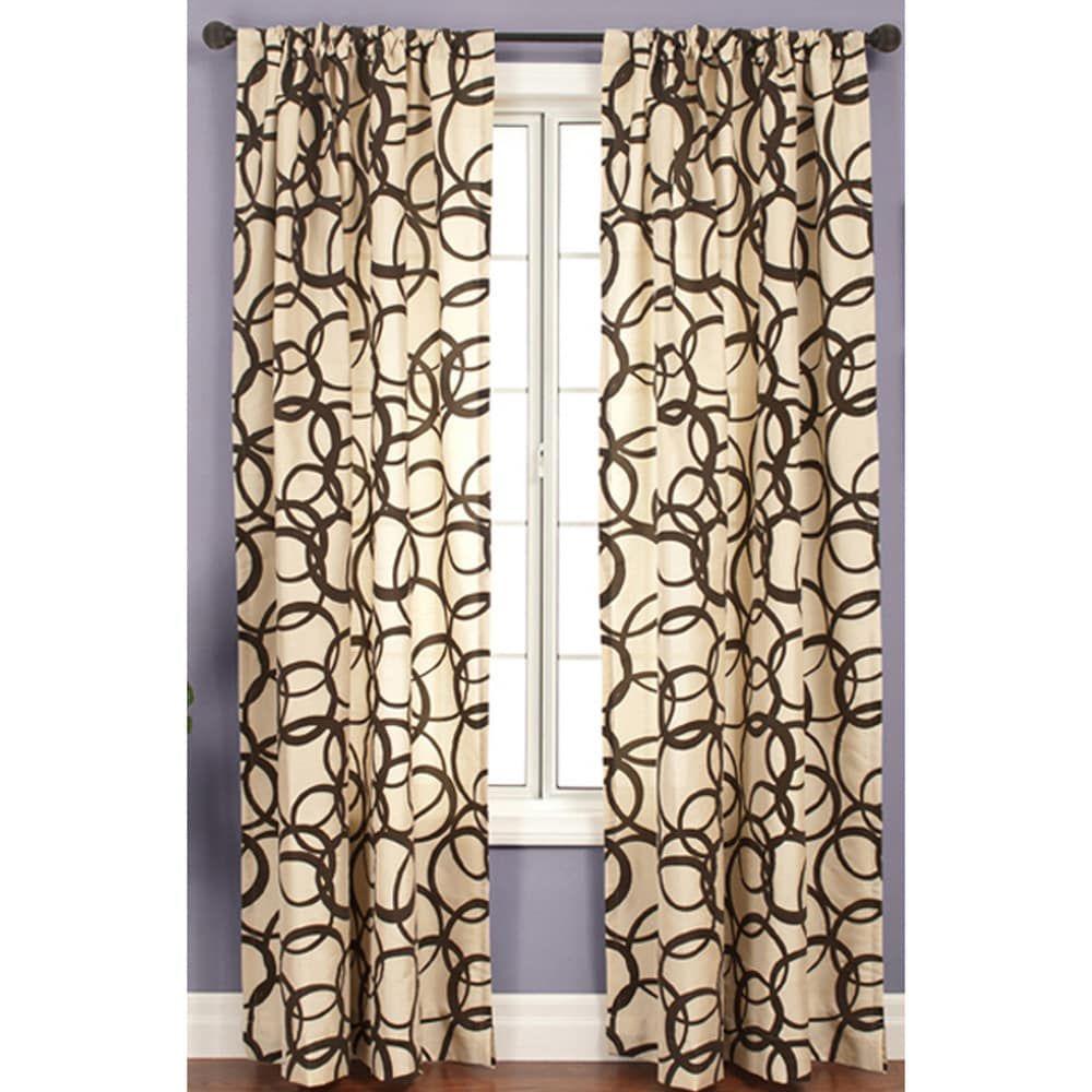 Softline Nirvano 84 Inch Rod Pocket Curtain Panel 55 X 84 In