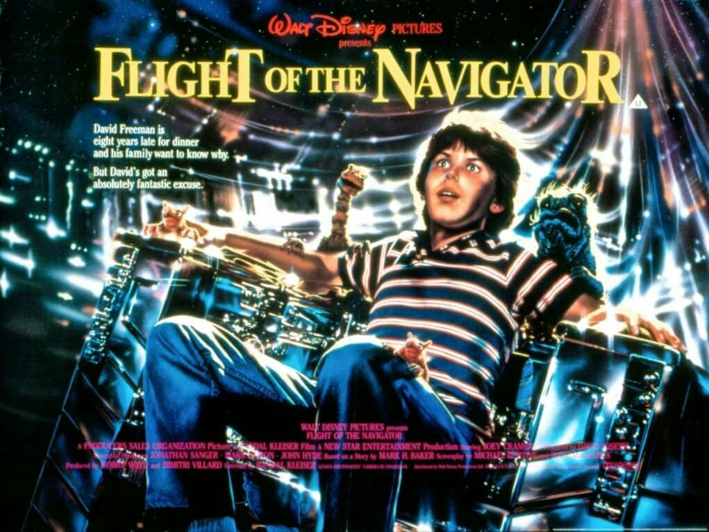 Flight Of The Navigator Movie Posterfantastic Movie Posters Movieposters Scifi Movie Posters Horror Best Sci Fi Movie Flight Of The Navigator Movie Posters