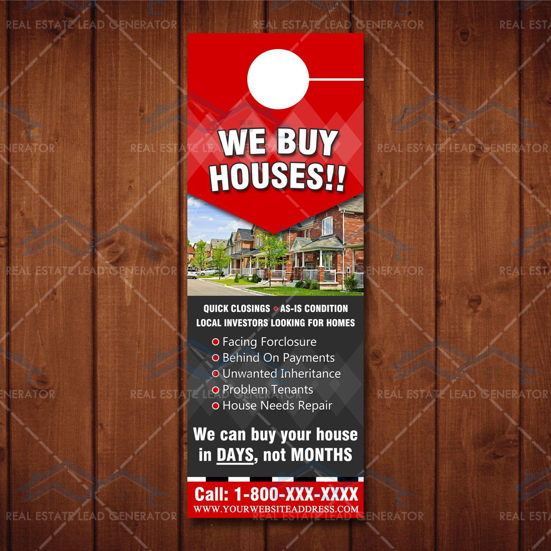 We Buy Houses Door Hanger 3 We Buy Houses Home Buying House Doors
