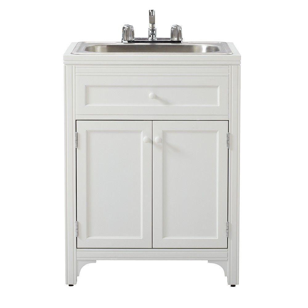 Laundry Room Utility Sink Storage