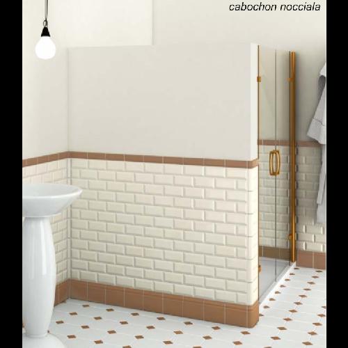 Cafe Jardin Decorative Mat: Carrelage 20x20 Blanc Mat Octogone Avec Cabochons CERAME