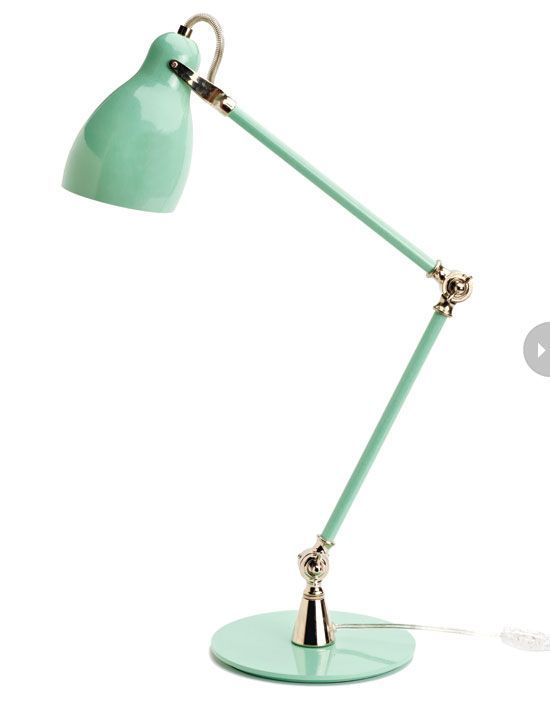 Add This Metal Seafoam Green Desk Lamp To Brighten Up The Room As You Work Away