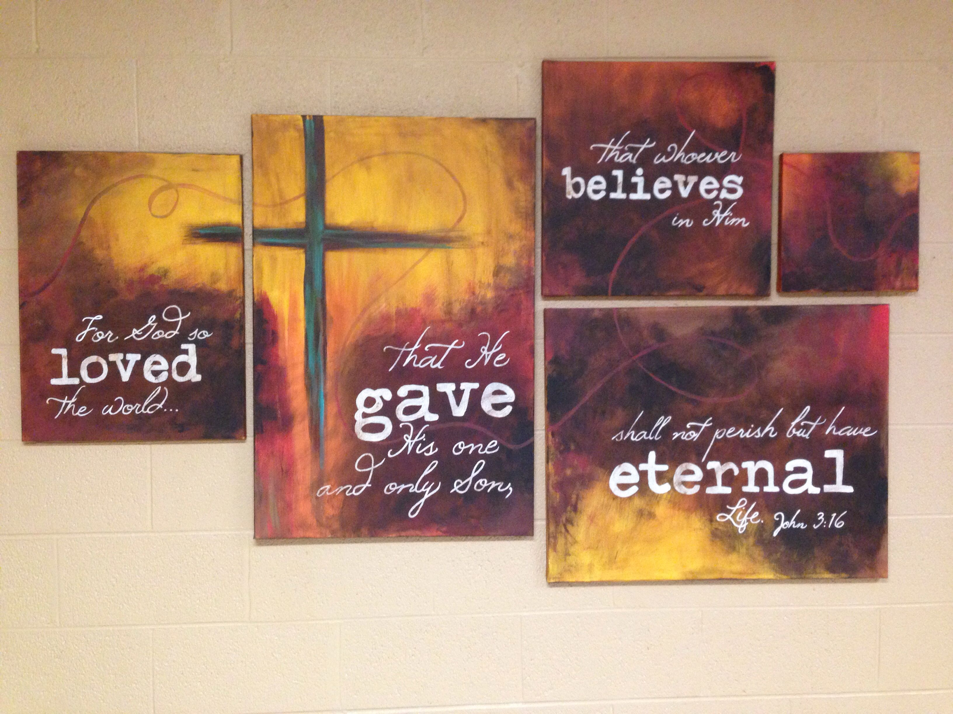 John 3:16 painted canvas.