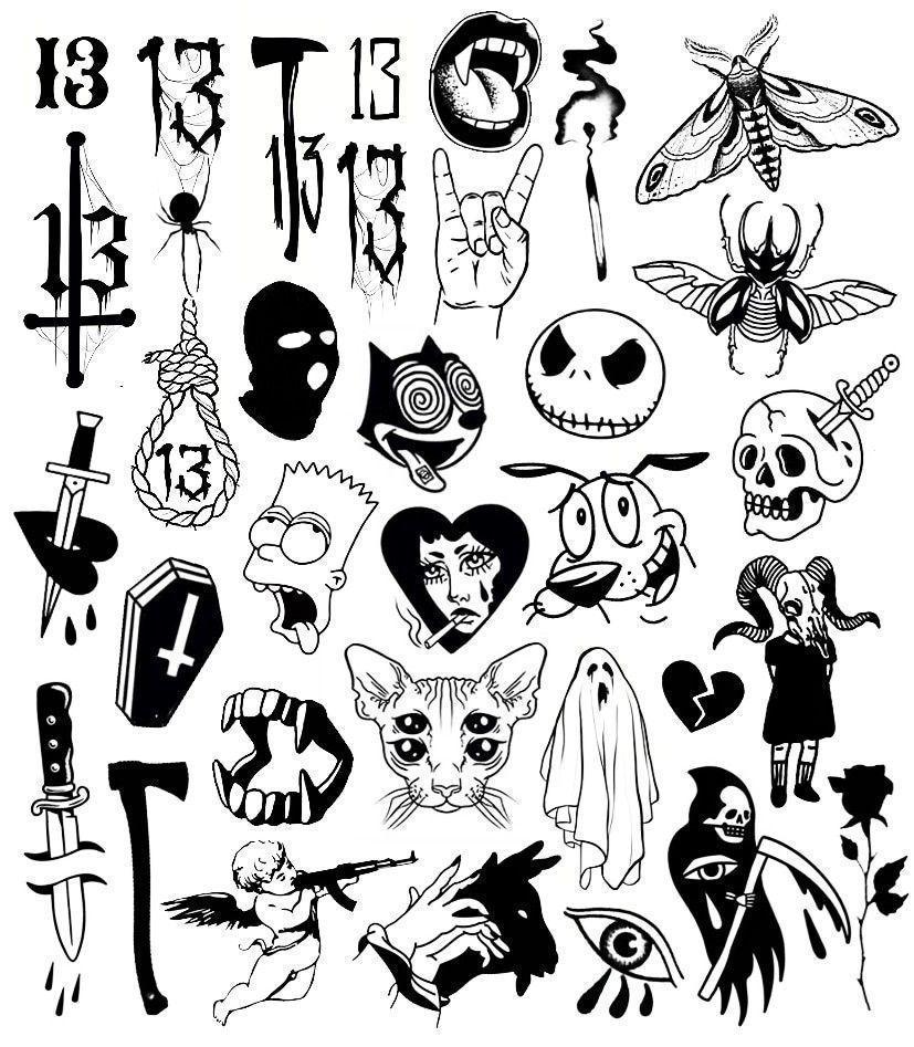 Tattoo Flash Art Art Flash Tattoo Art Flash Tattoo Spooky Tattoos Flash Art Sketches