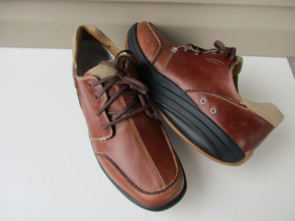 6dbb66a12b13 MBT Tariki M Walnut Brown Leather Walking Men s Shoes Size 11  MBT   PlatformShoes