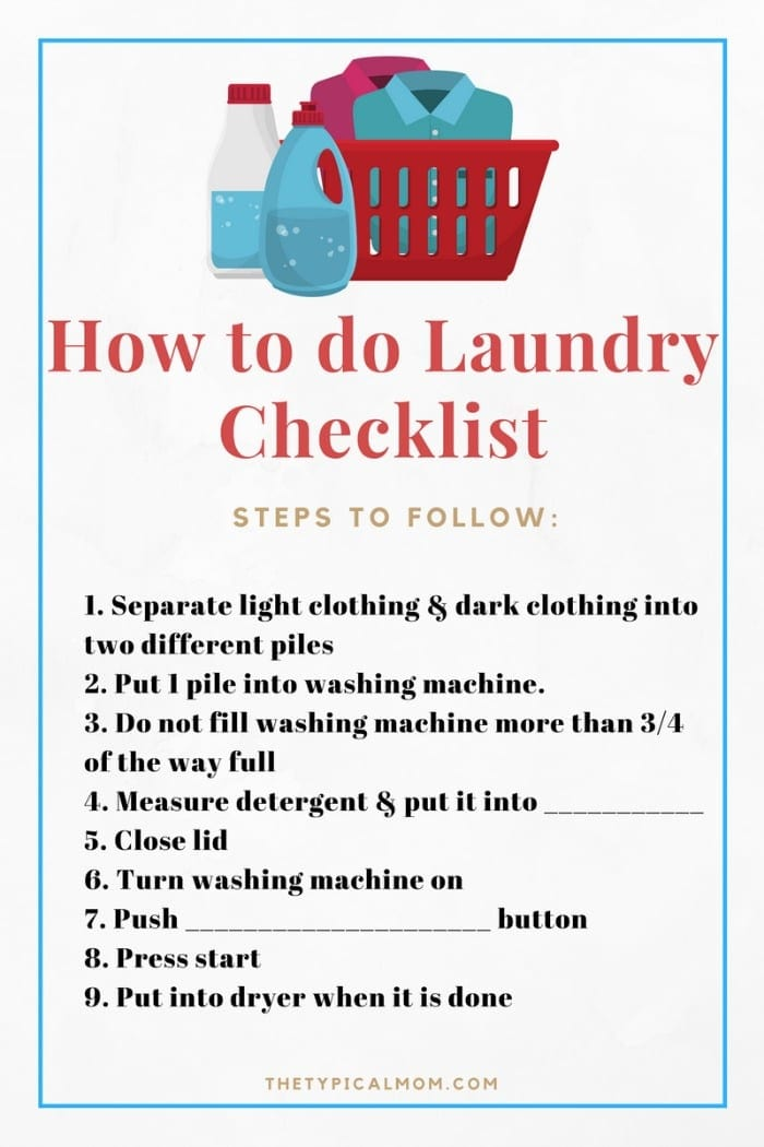 Life Skills For Children How To Do Laundry Life Skills For