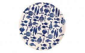Aqua Print Platter