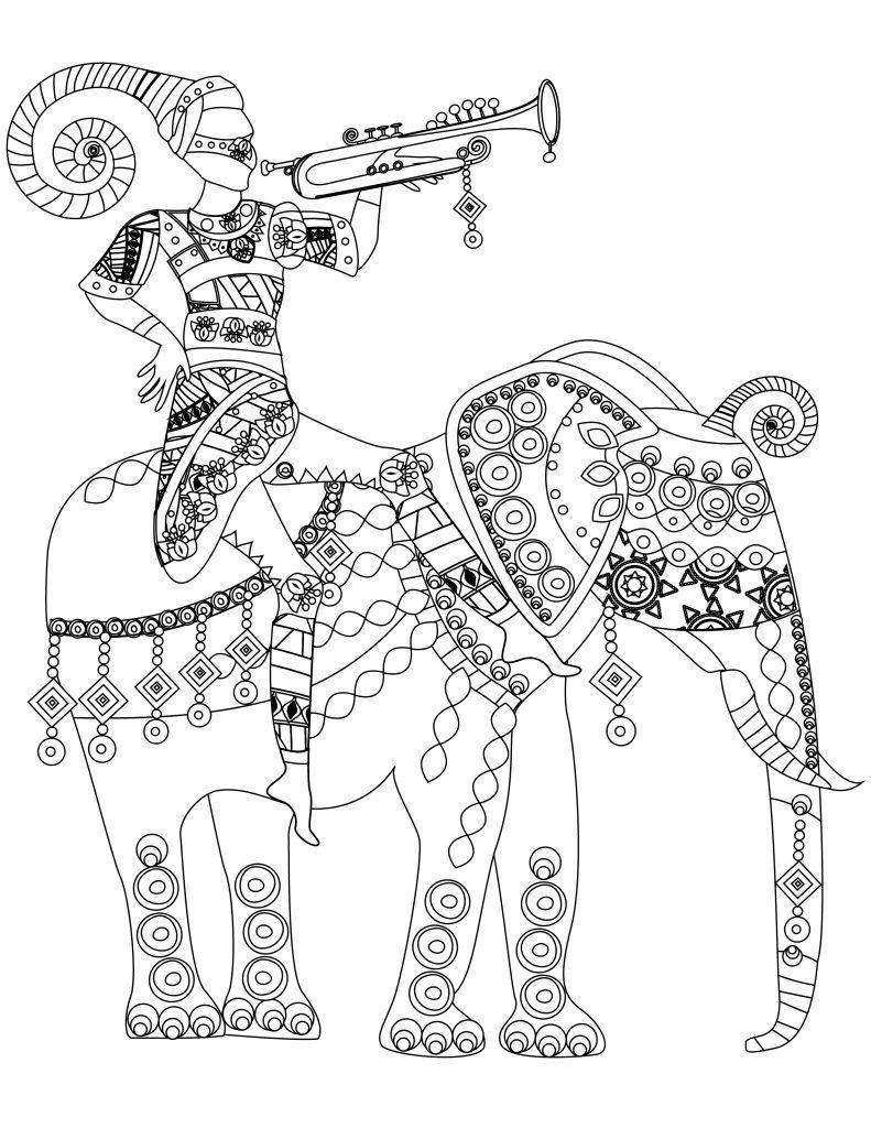 India south africa coloriage de éléphant