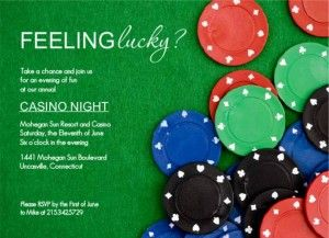 Wording Casino Night Invitation Wording Ideas From Purpletrail