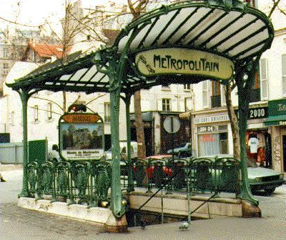 Paris Metro Entrance - Would make a great arbor or gazebo in a ...