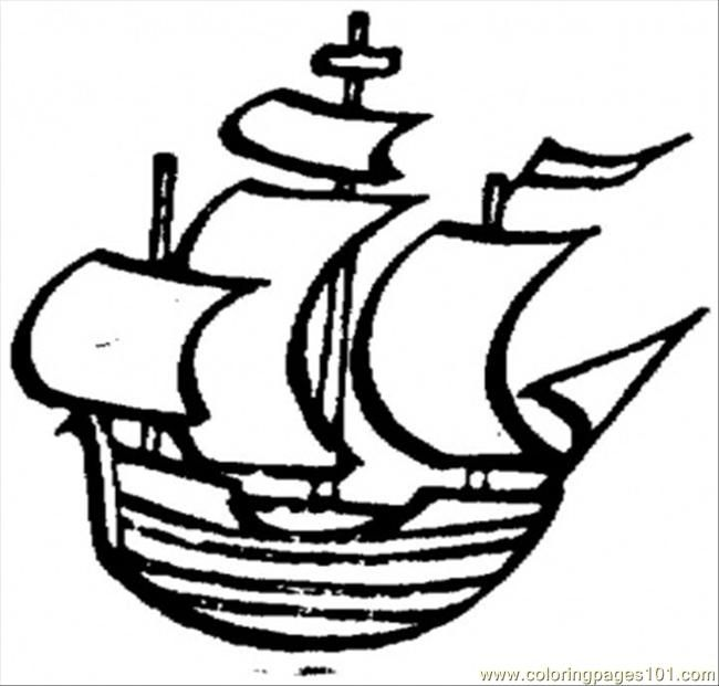 printable coloring page Old Little Ship (Water transportation - copy coloring pages transportation vehicles