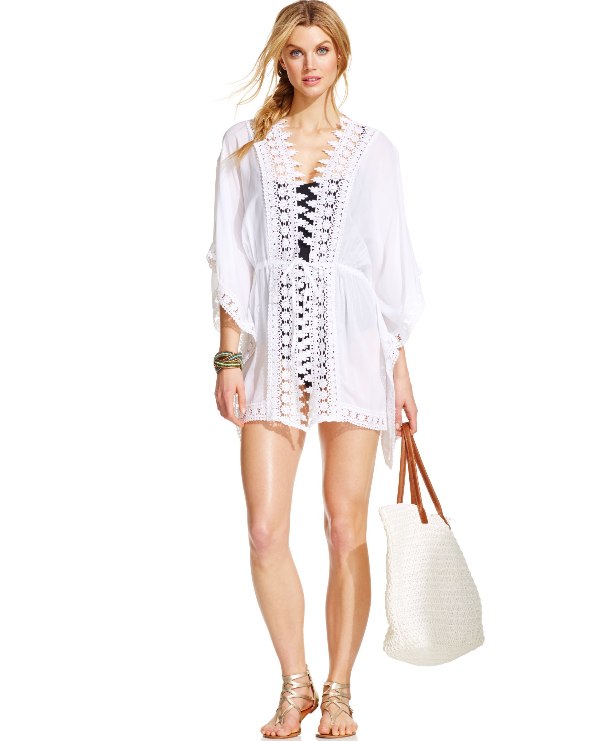0d55a3f2d540e La Blanca Crochet Trimmed Kimono-Style Cover Up | Products