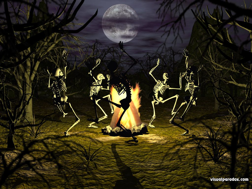 Haunted Halloween Backgrounds Full Moon Trees Scary