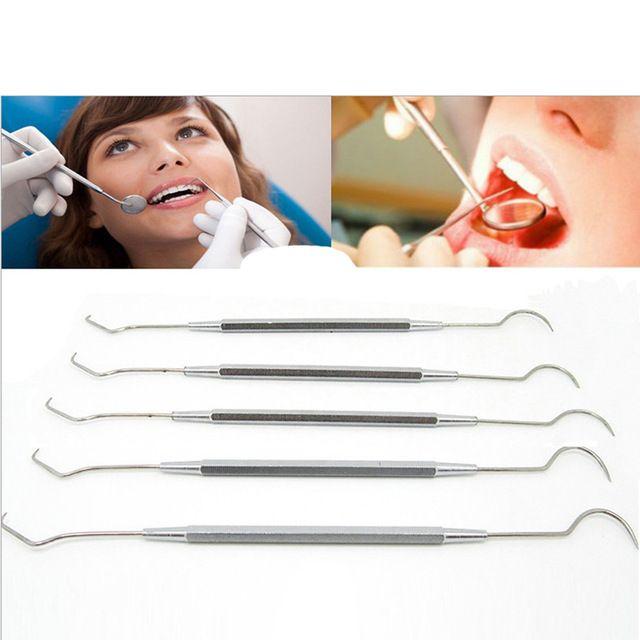 1 PC professional Stainless Steel Dental Tool Dentist Teeth Clean Hygiene Explorer Probe hook Pick Teeth care FM1036 Review
