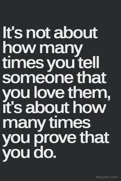 love actions speak louder than words