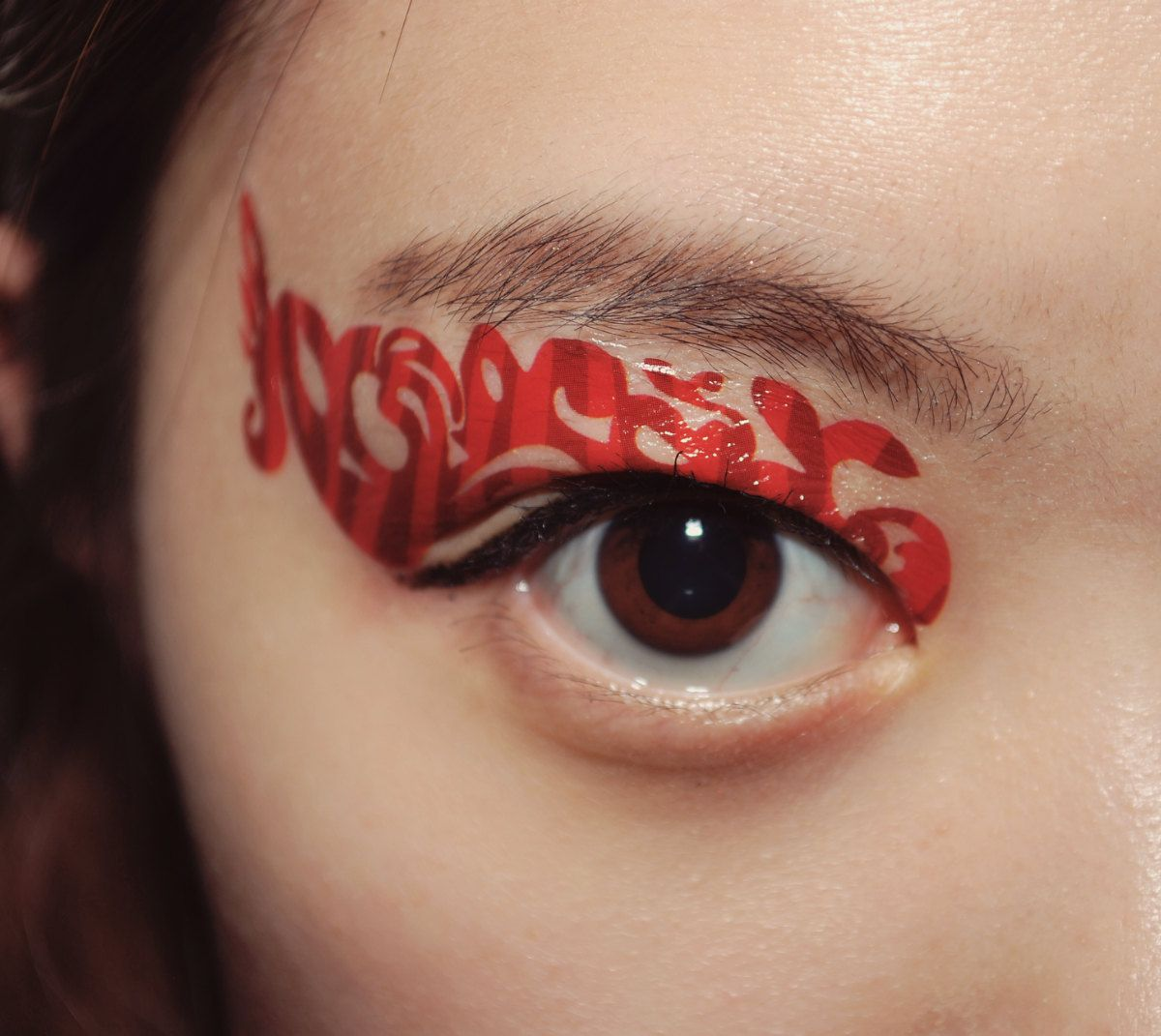 1 Pair of Temporary Tattoo Makeup for Eyes Eyelids by