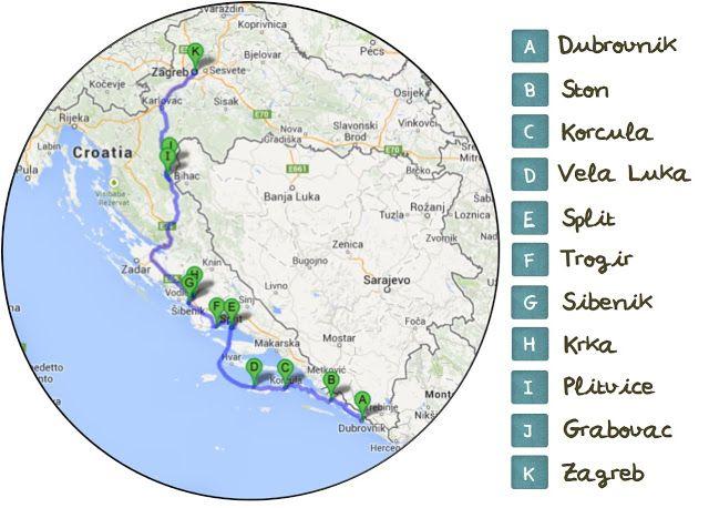 Nuestra Ruta En Coche Por Croacia Roadtrip Rutas En Coche Croacia Rutas