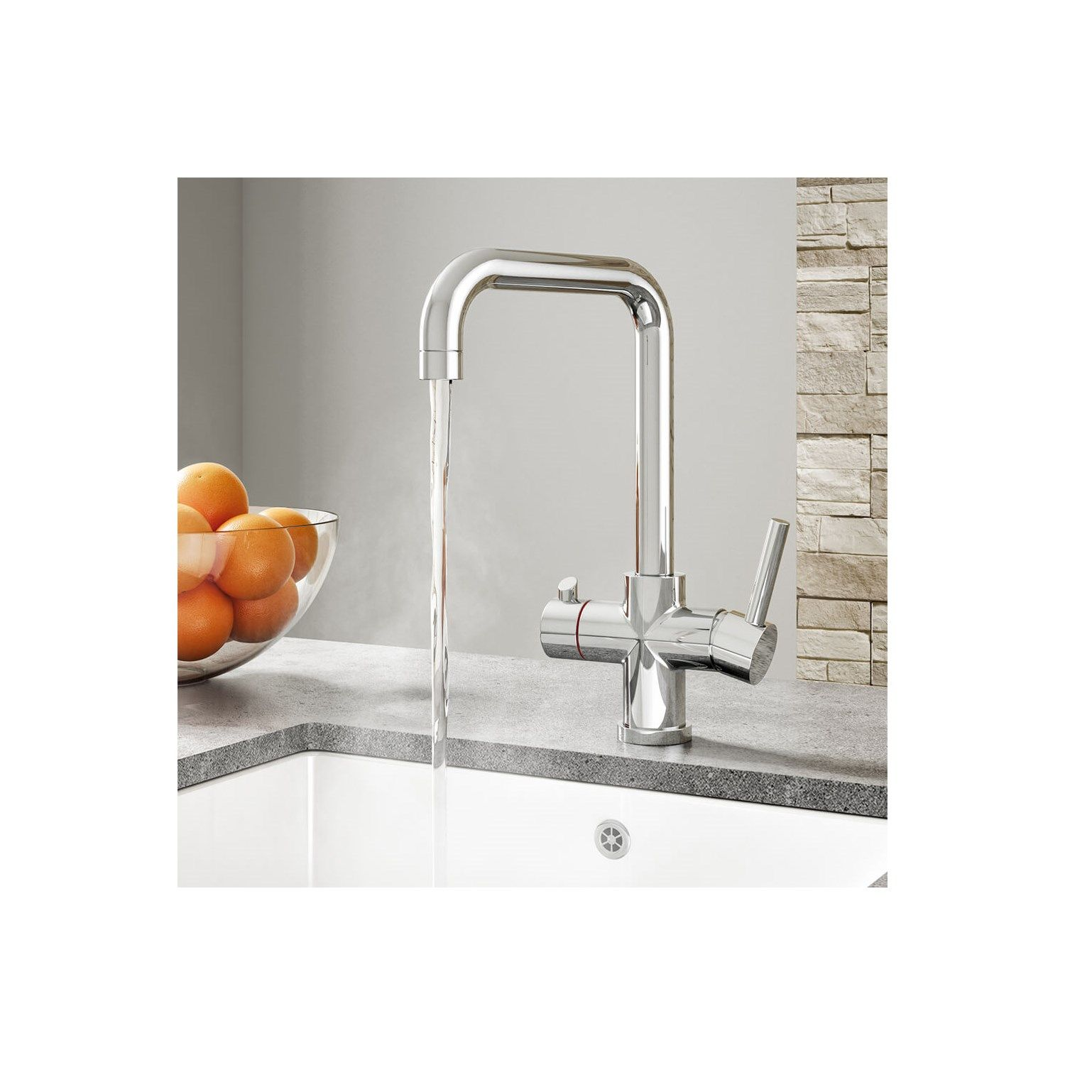 Vellamo Kaffe 3 In 1 Instant Hot Water Tap With Boiler Unit