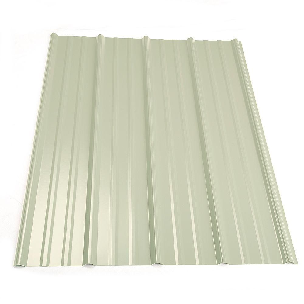 Metal Sales 8 Ft Classic Rib Steel Roof Panel In White 2313230 Steel Roof Panels Roof Panels Metal Roof Panels