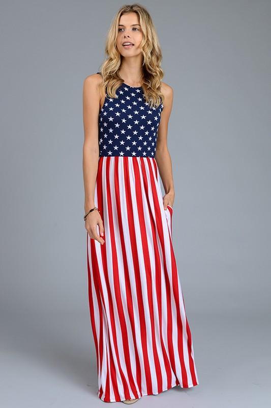 American Flag Maxi | Maxi dresses, Summer maxi and Chart