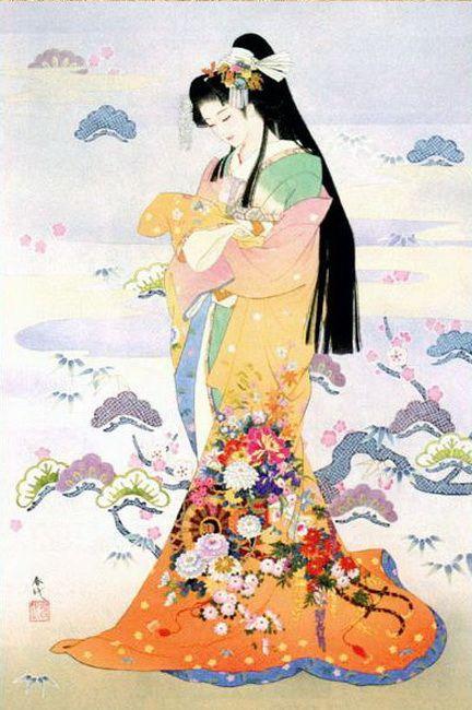 Los Kimonos De Haruyo Morita Cuaderno De Retazos Arte Japones Ilustracion Japonesa Arte Geisha