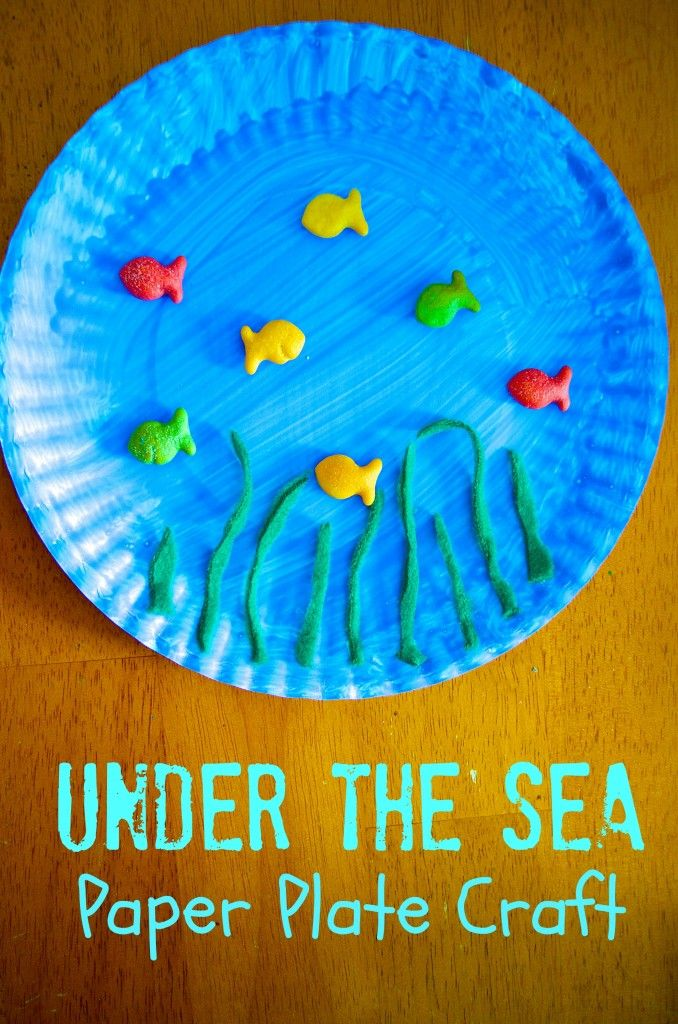 Under The Sea Ocean Paper Plate Craft For Preschool Kids With