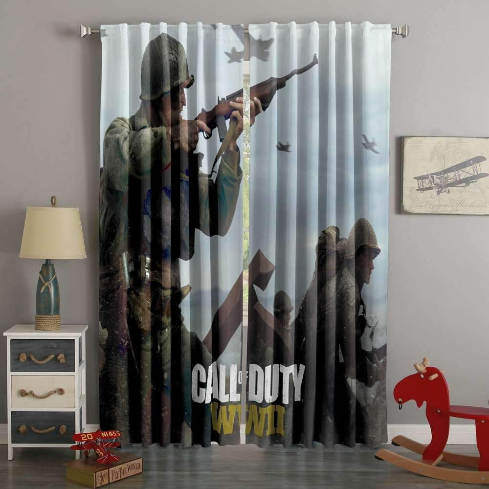 D printed call of duty mw style custom living room curtains