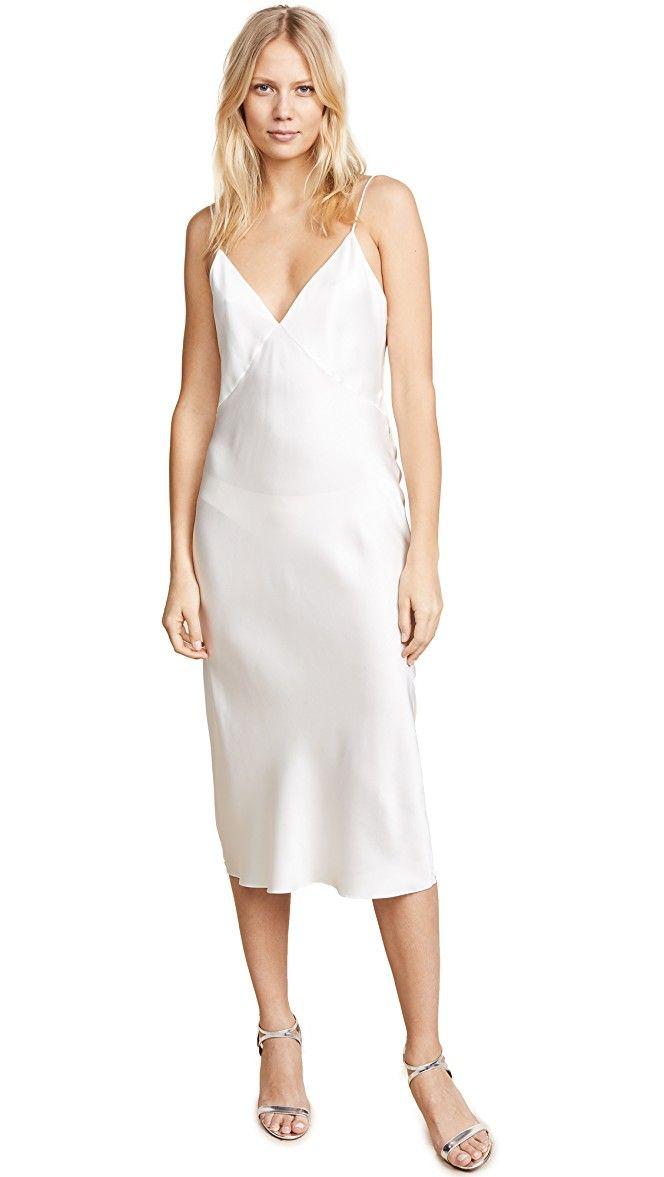 e7249c49c0c Peregrine White Silk Wrap Midi Dress - WTR London