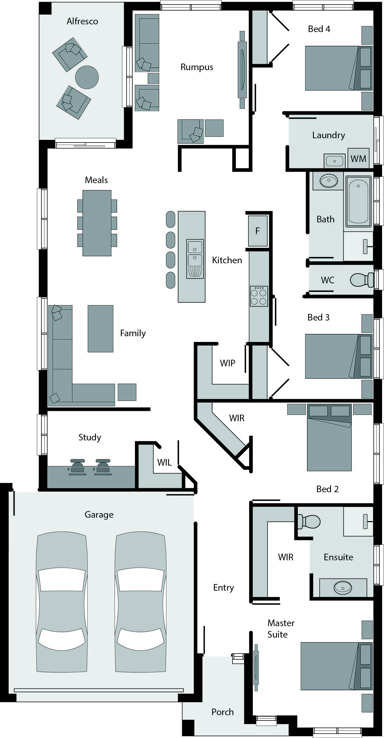 Rumpus Room Designs: Price From: $ 182,900 With A Spacious Rumpus Room, Large