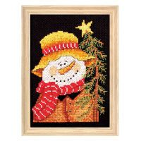 Mr. Snowman Counted Cross Stitch Kit