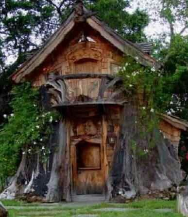 Delightful Tree House By Master Carver Steve Blanchard (with A Chainsaw)